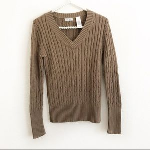 4/$25 Liz & Co. V-Neck Cotton Long Sleeve Sweater